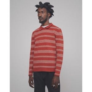 Levi's Vintage Clothing Knit Shirt- Red 100% Wool